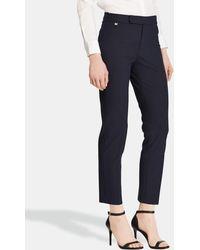 Lauren by Ralph Lauren - Navy Blue Skinny Trousers - Lyst