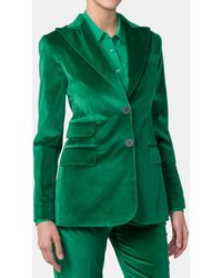 Mirto - Velvet Jacket With Maxi Lapel - Lyst
