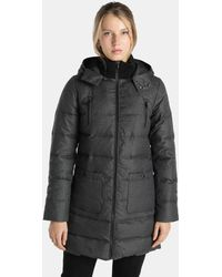 indi & cold - Long Hooded Quilted Coat - Lyst