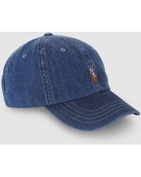Polo Ralph Lauren - Ralph Lauren Navy Blue Cotton Baseball Cap - Lyst