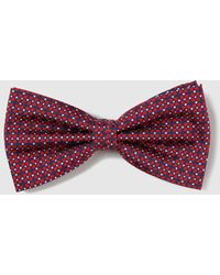 Mirto - Red Embellished Print Silk Bow Tie - Lyst