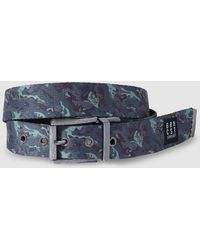 Green Coast - Mens Reversible Black And Printed Belt - Lyst
