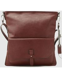 Esprit - Brown Crossbody Bag With A Front Pocket - Lyst