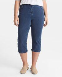 Couchel - Plus Size Capri Trousers With Diamanté - Lyst