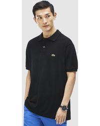 Lacoste - Black Short Sleeve Polo Shirt - Lyst