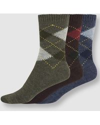 Punto Blanco - Three-pack Of Argyle Socks - Lyst