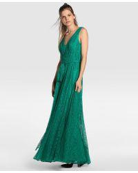 Vera Wang - Green Lace Evening Dress - Lyst