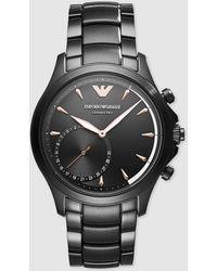 Emporio Armani - Art3012 Smartwatch Black Steel Watch - Lyst