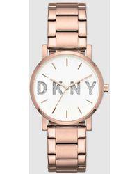 DKNY - Soho Ny2654 Pink Steel Watch - Lyst