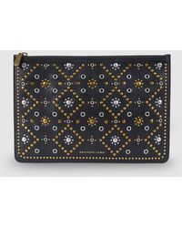 Polo Ralph Lauren - Studded Leather Zip Pouch - Lyst