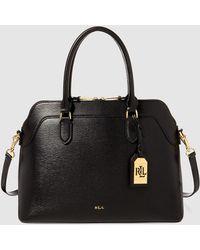 Lauren by Ralph Lauren - Black Leather Handbag With Pendant - Lyst