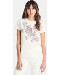 Yera - Short Sleeved T-shirt With Front Rhinestones - Lyst