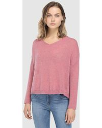 indi & cold - Pink V-neck Sweater - Lyst
