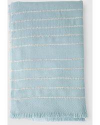 El Corte Inglés - Blue Foulard With Contrasting Interweaving - Lyst