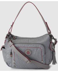Caminatta - Light Grey Crossbody Bag With Shoulder Strap - Lyst