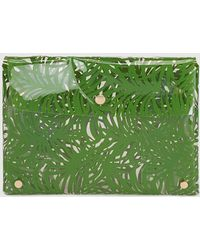 El Corte Inglés - Wo Transparent Briefcase With Green Leaf Print - Lyst