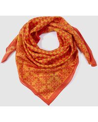 Gloria Ortiz - Orange Printed Silk Handkerchief - Lyst