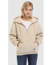Green Coast - Hooded Shearling Sweatshirt - Lyst