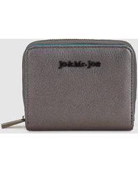 Jo & Mr. Joe | Wo Small Silver And Metallic Blue Wallet | Lyst