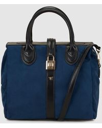 Pepe Moll - Blue Tote Bag With A Padlock Detail - Lyst