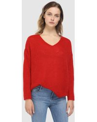 indi & cold - Red V-neck Sweater - Lyst