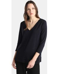 Zendra El Corte Inglés - El Corte Inglés Zendra V-neck T-shirt With French Sleeves - Lyst