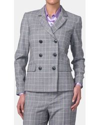 Mirto - Prince Of Wales Print Two-button Jacket - Lyst