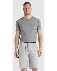 GANT - Short Grey Knitted Pyjama Bottoms - Lyst