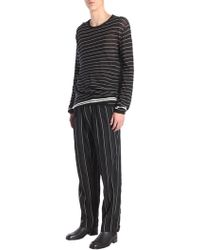 Haider Ackermann - Striped Cotton And Cashmere Sweater - Lyst