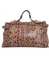 Zagliani - Muna Python Skin Bag - Lyst