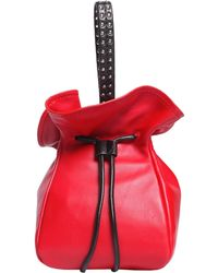 3.1 Phillip Lim - Leather Bucket Bag With Studded Leather Handle - Lyst