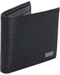 Ferragamo - Black Textured Leather Wallet - Lyst