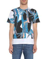 Marni - Printed Cotton Jersey Round Collar T-shirt - Lyst