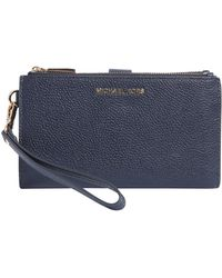 MICHAEL Michael Kors - Leather Wallet With Double Zip - Lyst