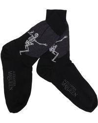"Alexander McQueen - ""dancing Skeleton"" Socks - Lyst"