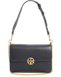 Tory Burch - Chelsea Leather Bag With Double Crossbody Strap - Lyst
