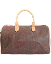 Etro - Paisley Printed Bag With Leather Details - Lyst