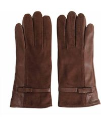 Tru Trussardi - Nappa And Suede Leather Gloves - Lyst