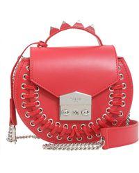 "Salar - ""claire Pocket"" Leather Crossbody Bag - Lyst"
