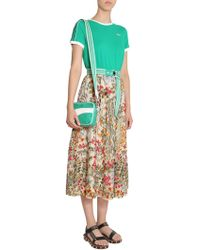 RED Valentino - Flower Embroidered Midi Skirt - Lyst