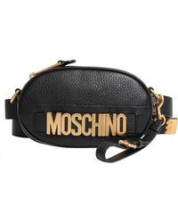 Moschino - Leather Belt Bag With Logo - Lyst