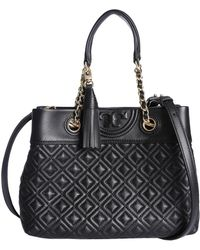 Tory Burch - Small Fleming Tote Bag In Leather - Lyst