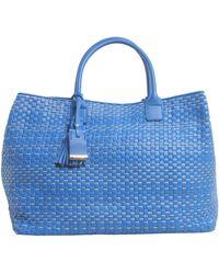 Bruno Parise Italia - Large Stephanie Leather Shopping Bag - Lyst