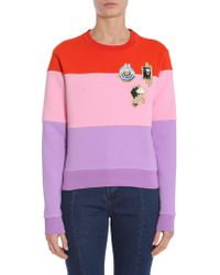 Carven - Round Collar Sweatshirt With Patch - Lyst