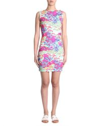 DSquared² - Hawaii Pritned Sleeveless Cotton Jersey Dress - Lyst