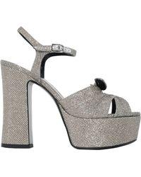 Saint Laurent | Candy 80 Glitter Sandals | Lyst