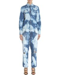 DSquared² - Denim Denim Bleached Jumpsuit - Lyst