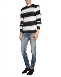 Saint Laurent - Striped Mohair Jumper - Lyst