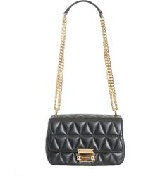 MICHAEL Michael Kors - Small Sloan Messenger Bag In Quilted Leather - Lyst