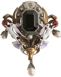 Alexander McQueen - Brass Animal Brooch - Lyst